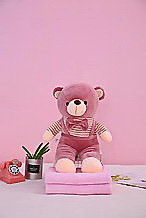Плед - мягкая игрушка 3 в 1  Медвежонок лиловый (121)