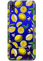 Прозрачный силиконовый чехол iSwag для Blackview A60 с рисунком - Лимоны H585, КОД: 1429052