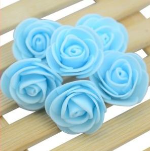 Роза из латекса, цвет св.голубой, 3,5 см