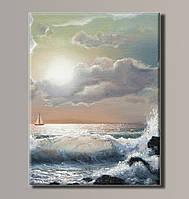 """Картина на холсте """"Морской прибой"""" для интерьера"""