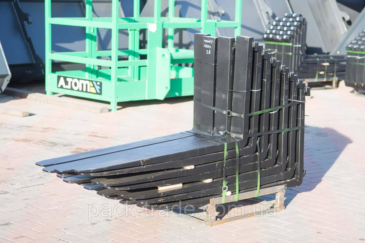 Вилы для погрузчика 3А, 125х50х1500 мм №1000471
