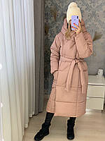 Женское теплое пальто одеяло, зимнее пальто на запах, куртка одеяло миди, модная длинная куртка