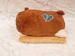 Плед мягкая игрушка 3 в 1 Хомяк коричневый -1 (126), фото 6