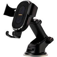 Авто держатель холдер Remax RM-C37 Black + Wireless Charger