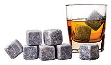 Камни для виски HMD Whiskey Stones 9 шт Светло-серый 187-1843368, КОД: 1558786, фото 2