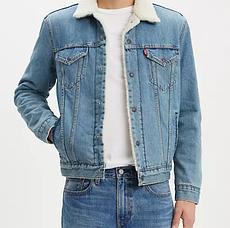 Зимняя джинсовая курткаLevis Sherpa Trucker Jacket- Sustainable