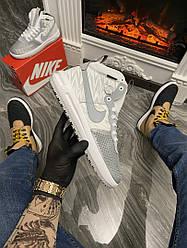 Кроссовки Nike Lunar Force 1 Duckboot Gray Reflective (Серый) Найк Лунар Форс