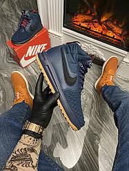 Кроссовки Nike Lunar Force 1 Duckboot '17 Blue (Синий) Найк Лунар Форс