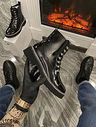 Ботинки Balmain Paris Luxury Boots (Мех) (Черный) Балмеин Люкс