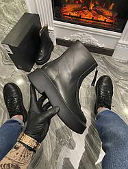 Ботинки женские The Row Women's Black Zipped 1 (Черный) Демисезон Кожа