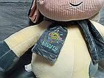 Плед - мягкая игрушка 3 в 1  Коровка с шарфиком ванильно - серая (129), фото 2
