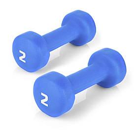 Гантели для фитнеса Spokey SHAPE IV 2х2 кг Голубые s0266, КОД: 200853