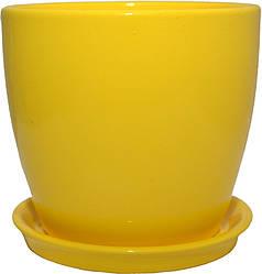 Вазон Зеленая сотка Сонет премиум 10 х 10 см Жёлтый 000004498, КОД: 358545