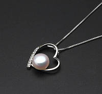 """Срібний кулон із перлів """"Серце моря"""""""