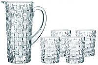 Набор для напитков Nachtmann Bossa Nova кувшин 1190мл и стаканы 330мл. 5пр. 98759, КОД: 2410478