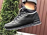 Темно-синие зимние кроссовки Reebok из натуральной кожи, фото 5