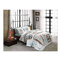 Набор постельного белья TAC ранфорс - Camille turkuaz v3 бирюзовый полуторный