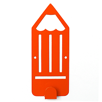 Вешалка настенная Детская Glozis Pencil Orange H-040 16 х 7 см, КОД: 241788