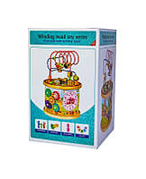 Деревянная развивающая игрушка-сортер 10 в 1 музыкальный с лабиринтом (5134), фото 1