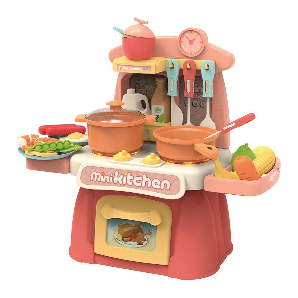 Детская игровая кухня Beibe Good 889-174 со световыми и звуковыми эффектами, льется вода
