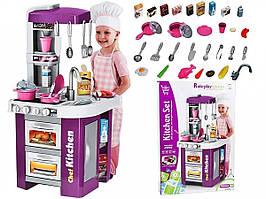 Детская игровая кухня Kitchen Set 922-49 со светом и звуком, льется вода, Сиреневая