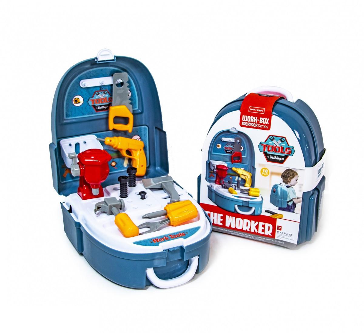 """Детский игровой набор """"Портфель строителя"""" 7F704 с инструментами"""