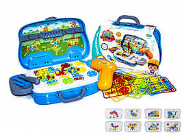 """Детский игровой набор """"Юного Строителя"""" 198 в чемодане"""