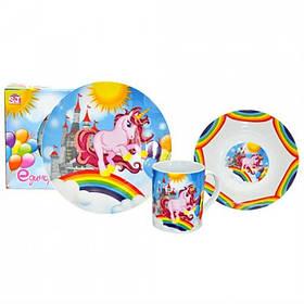 Набор детской посуды Единорог 3 предмета Керамика S&T-5141