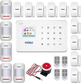 Комплект беспроводной GSM сигнализации Kerui G18 KKFHVBCHHDS7D46D, КОД: 1633411