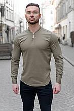 Мужская Рубашка лонгслив оливковая / 4 цвета