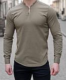 Мужская рубашка лонгслив синяя / 4 цвета, фото 6