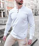 Мужская рубашка лонгслив синяя / 4 цвета, фото 7