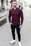 Мужская рубашка лонгслив синяя / 4 цвета, фото 10