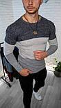 Мужской свитер приталенный Синий / Турция, фото 2