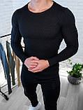 Мужской свитер Белый приталенный / Турция, фото 4