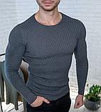 Мужской свитер Белый приталенный / Турция, фото 5