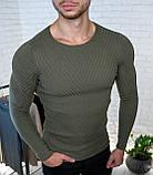 Мужской свитер Белый приталенный / Турция, фото 6