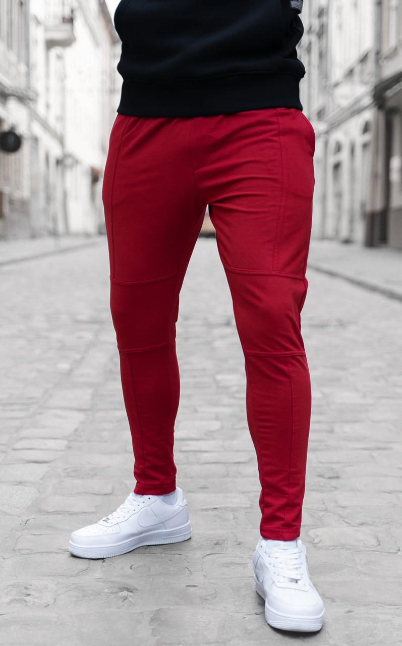 Мужские штаны зауженные красные / Турция