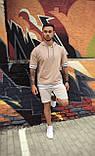 Чоловічий худі з коротким рукавом сірий/ Туреччина, фото 2