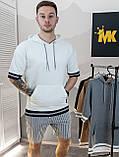 Чоловічий худі з коротким рукавом сірий/ Туреччина, фото 4