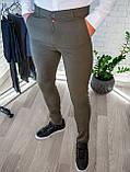 Брюки мужские облегающие Серые/ Турция, фото 6