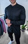 Мужская рубашка Белая без ворота/пуговицы спрятаны, фото 3