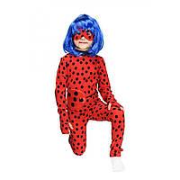 Детский карнавальный костюм ЛЕДИ БАГ С ПАРИКОМ на 4,5,6,7,8 лет для девочки