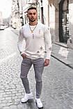 Мужской джемпер оверсайз рванный Белый / Турция, фото 2