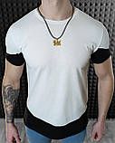 Мужская футболка Белая с черным/ Есть 5 цветов, фото 4