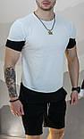 Мужская футболка Белая с черным/ Есть 5 цветов, фото 5