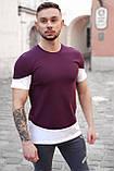 Мужская футболка Белая с черным/ Есть 5 цветов, фото 7