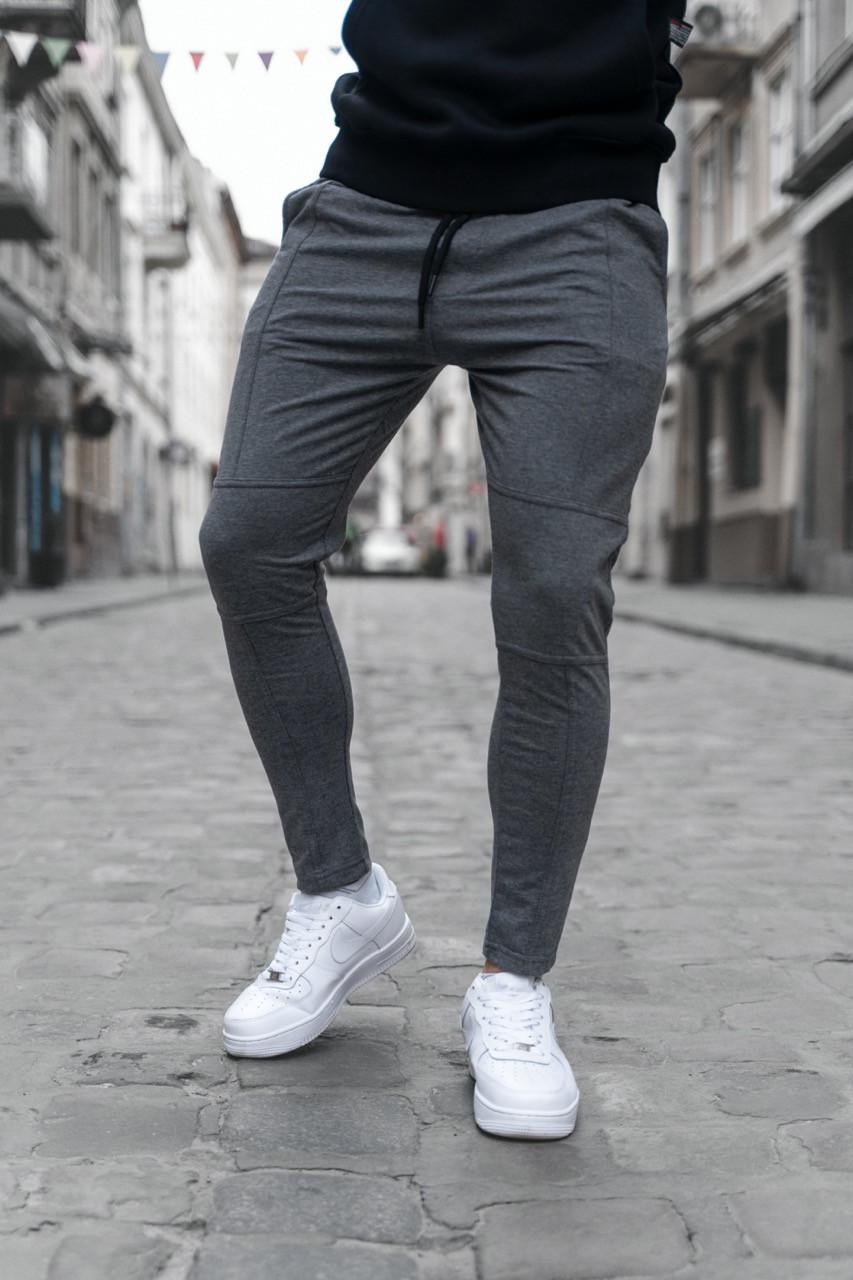 Чоловічі штани, завужені темно-сірі / Туреччина
