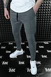 Чоловічі штани, завужені темно-сірі / Туреччина, фото 2