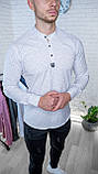 Мужская рубашка Черная с рисунком 3 пуговицы/ Турция, фото 3